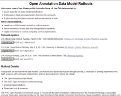 Data Model Rollout Information Page
